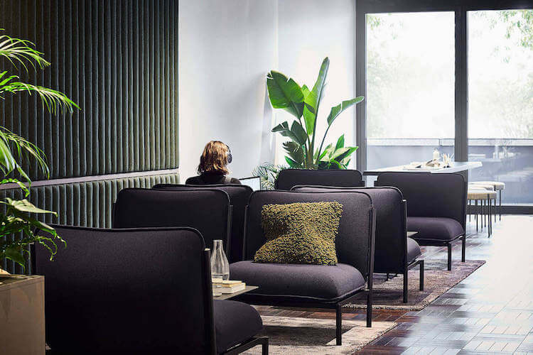 Informal meeting area & breakout space for office workers to utilise at One Lyric Square Hammersmith.