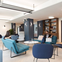 Informal meeting area at Paddington Business Centre with design-led contemporary furniture.