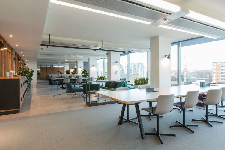 Spacious Co-Working & breakout space with spectacular views of London close to Paddington Station.