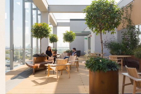 TOG building boasts a stunning roof terrace overlooking London landscape for businesses to network at the beautiful Eastbourne Terrace office building.