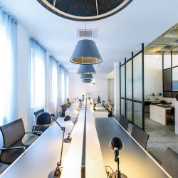 Beautifully designed, professional co-working area at the The Office Group location at 201 Borough High Street offering hot-desks and dedicated desks to rent on flexible terms.