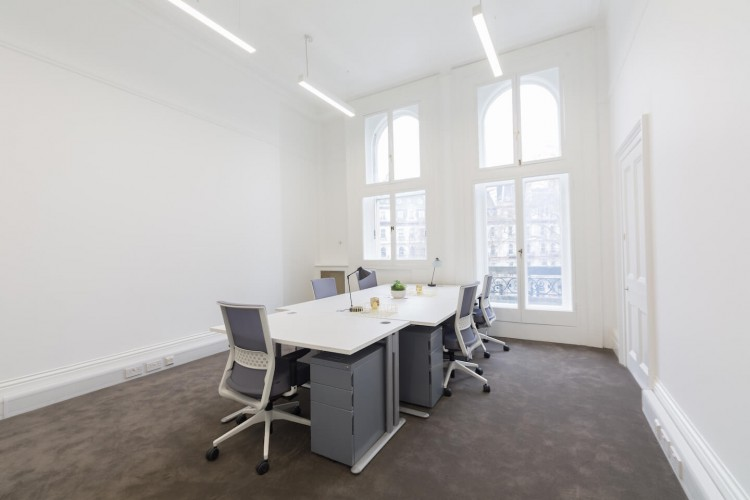 Private office space within a Grade II listed building, providing companies a fully furnished workspace to operate from.