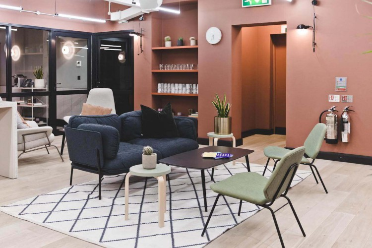 The Office Group Kirby Street providing office occupiers with ample, contemporary lounge space