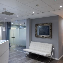 Serviced office reception on Savoy Street to offer a warm welcome to clients working within the building.