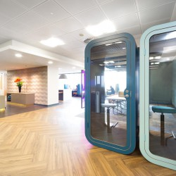 Private phone booths for office workers to utilise if one requires to make a personal phone call.