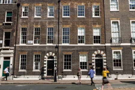 Serviced office space in Bedford Square, Fitzrovia, offering small to medium businesses private office in the West End of London.