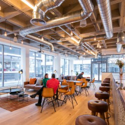 The office space in Curtain Road offers teams & businesses ample lounge space with a bar which can also be used to host industry events.