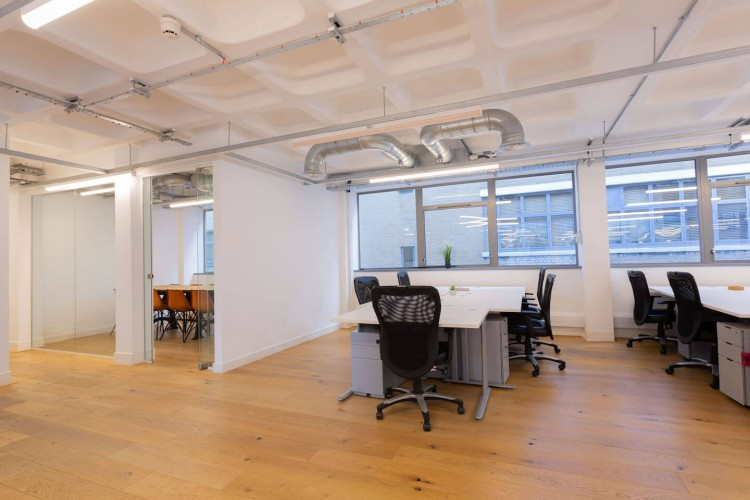 Private serviced office space in Curtain road for businesses that require self-contained space with dedicated meeting rooms.