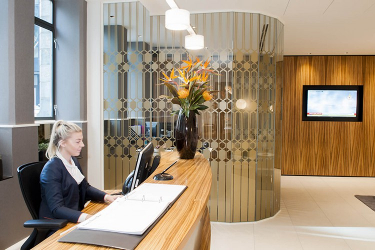 Holland House offers a manned reception to meet and greet clients and companies visiting this serviced office building in the City of London.