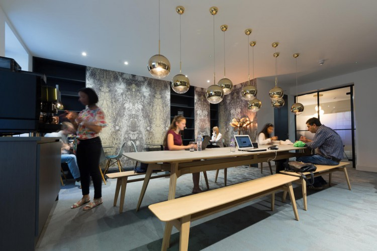 Boutique Workplace Soho Square Serviced Office Space offering luxurious, contemporary communal areas outside of their private office space