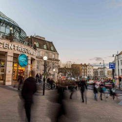 The centre court shopping centre which is adjoined to the serviced office space in Queens Road, Wimbledon. The space offers businesses private workspaces on flexible terms.