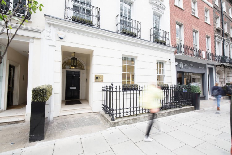 The external building on the stunning Office Space in Wigmore Street, Marylebone, London.