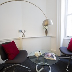 The office space in Wigmore Street, Marylebone, London, offers Informal meeting space for businesses to use away from their private office.