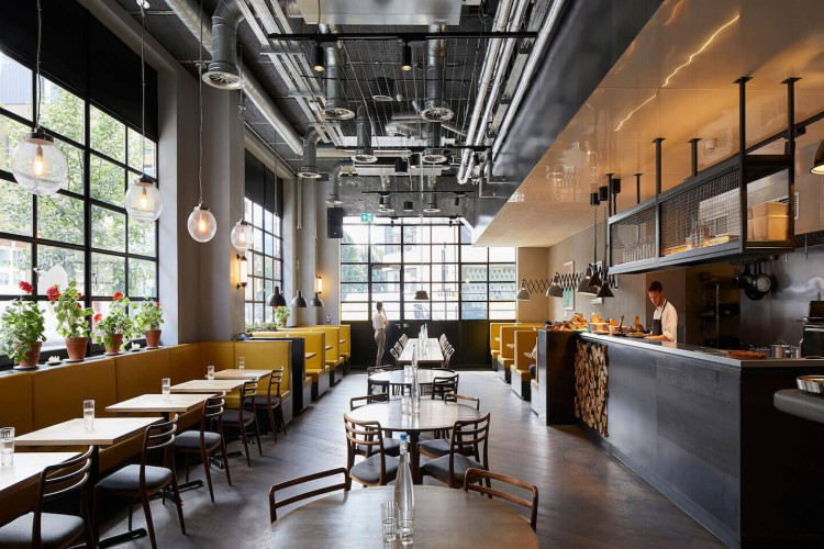 This stunning office space in Central Street, Clerkenwell, offers members an on-site, award winning chef Stevie Parle's Italian restaurant, Palatino.