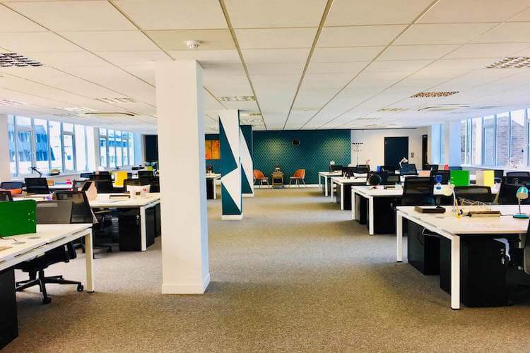Open plan office space at Citybridge House on Southwark Street provided by One Avenue Group.