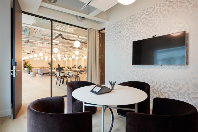 Small meeting room with conference calling facilities at this stunning flexible office space in High Holborn, London.