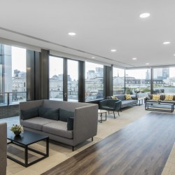Stunning reception and business lounge for the companies at this striking development in King William Street, which includes a private roof terrace with spectacular views over the Bank of England across the City.