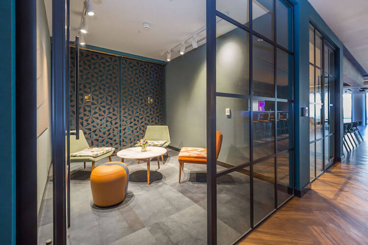 Small meeting room that accommodates up to 4 people to use at 2 Portman Street, Marble Arch.