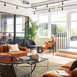 Orion House, operated by The Office Group, offers contemporary breakout area with designer furnishings for office occupiers to use outside of their private office.