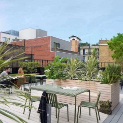 Orion House, operated by The Office Group, offers a roof terrace space for office occupiers to use outside of their private office and to hire for client events.