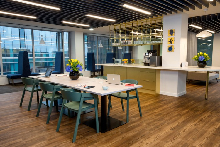 Victoria street offers businesses various workspace areas including private offices, co-working areas, focus booths, break-out areas to work from.