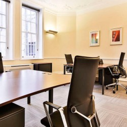 Private, well-lit serviced office space for rent in Mayfair at 42 Brook Street.