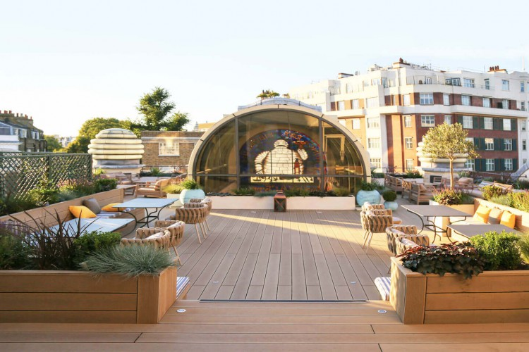 Michelin House Roof Terrace for office tenants to use.