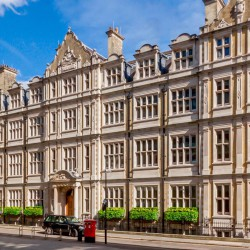 Central Court is a stunning serviced office building. Formerly the London Patent Office, the property features a superb exterior, beautifully crafted interior with a spectacular galleried reading room and landscaped courtyards.