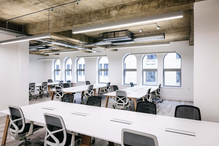 Managed Office Space in Worship Street offering Clients their own branded space, to create their own identity that offers full service, agility for their business, but also privacy.