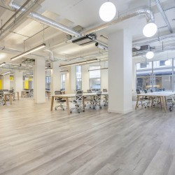 Self-contained managed office space at 43 Worship Street, providing businesses the opportunity to customise their own workspace with phone booths, designer furniture and meeting rooms.