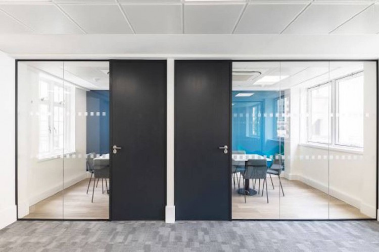 Meeting room space at Instant managed office building on Basinghall Street.