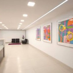Reception desk at Instant managed office building in Basinghall Street.