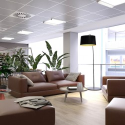 Breakout space for office workers at City Place House, Basinghall Street.