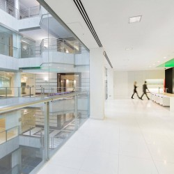 Internal design of the flexible office building - City Place House in the City of London.
