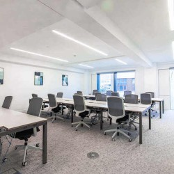 Flexible office floor with kitchen and meeting rooms already in place at the Crane Building, Southwark, operated KITT Offices.
