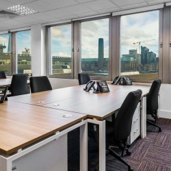 Open-plan flexible office space solution at Mermaid House, Puddle Dock, Blackfriars. Suitable for startups and SME's who need private office space on flexible terms.