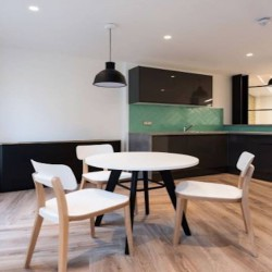 Kitchen & dining area at the flexible office building, Monmouth House in Covent Garden.