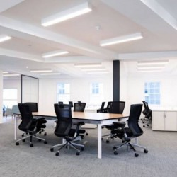 Bespoke office space at Monmouth House, Covent Garden. The space can accommodate up to 50 desks and 2 internal meeting rooms for businesses to occupy.
