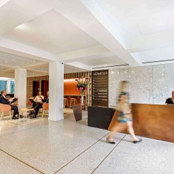 Senator House building reception offering office occupiers a fully serviced offering.