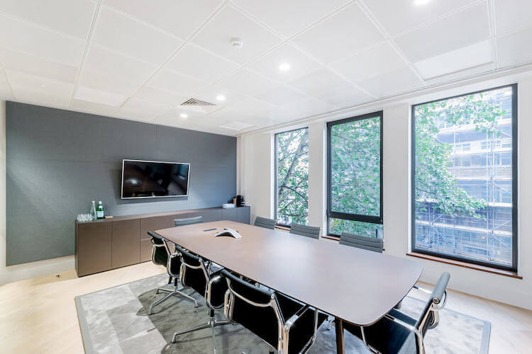 Meeting room with conference calling facilities available for companies working at Sentinel House, Marylebone, NW1