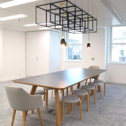 Meeting and workspace within flexible office building on the Strand.