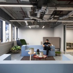 Breakout area for individuals/businesses to either relax in or to focus on a project away from their private office space in 2FA, Broadgate, London.