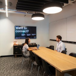 Weowrk's location at the Cursitor building offers meeting rooms for businesses to hold meetings and conference calls