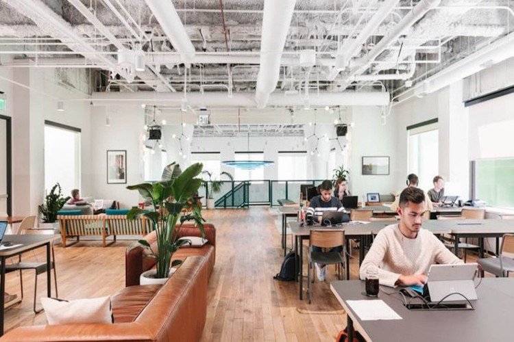 Wework location on York Road SE1, the worlds largest co-working space.