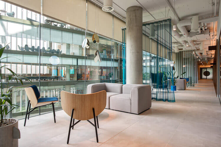 Flexible workspace building boasts contemporary breakout space at Storey location on 2 Kingdom Street in Paddington.