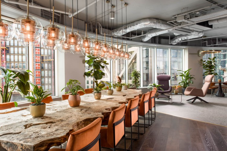 Coworking space at the stunning Uncommon location in Liverpool Street offering serviced offices and coworking space for rent.