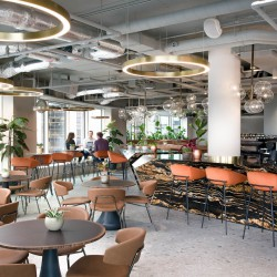 Uncommon's flexible workspace in Liverpool Street. Uncommon creates supportive environments which helps office members live well, work well and do well.