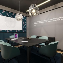 Contemporary, stylish meeting room for companies to rent at the red lion street serviced office space in holborn.