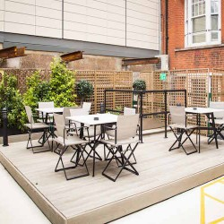 Beautiful private roof terrace at Brick street in Mayfair for serviced office tenants to use.