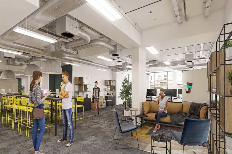 Knotel workspaces are strategically designed to empower teams and enhance productivity within businesses. Premium flexible workspace at Charlotte Street, Fitzrovia.